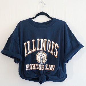 """Vintage Illinois """"Fighting Illini"""" Tee"""